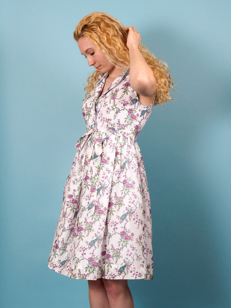 Finch Dress in Ornithes Voile