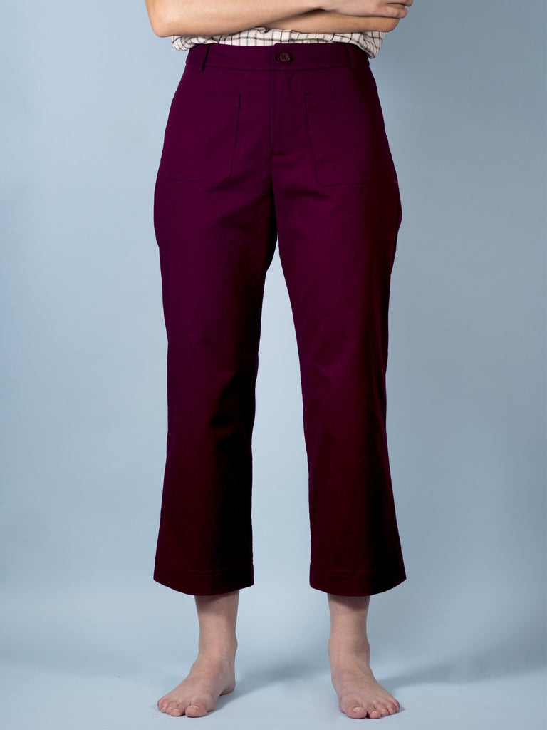Henri Pants in Mulberry Twill