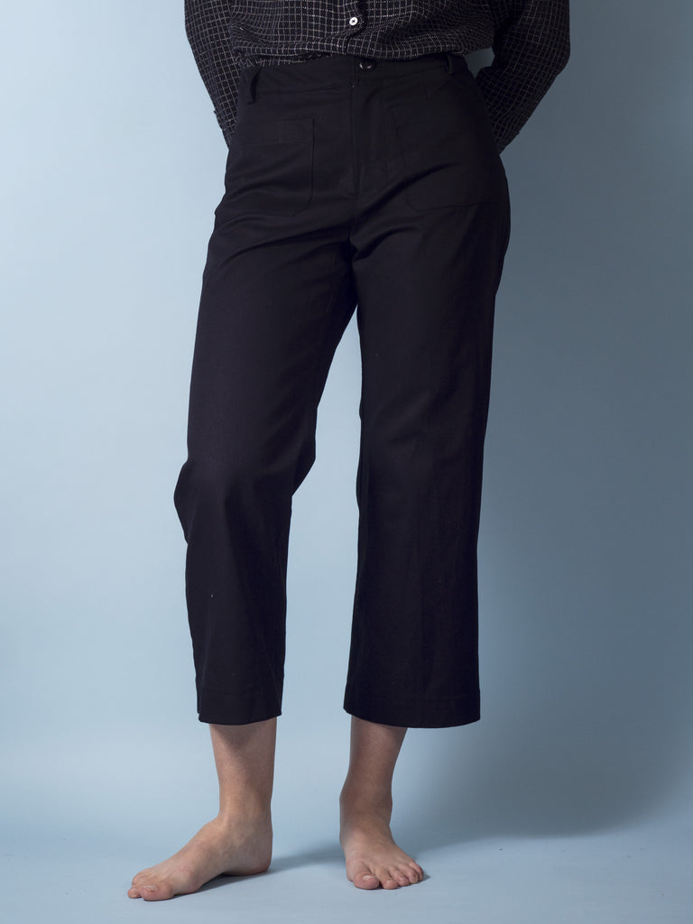 Henri Pants in Black Twill
