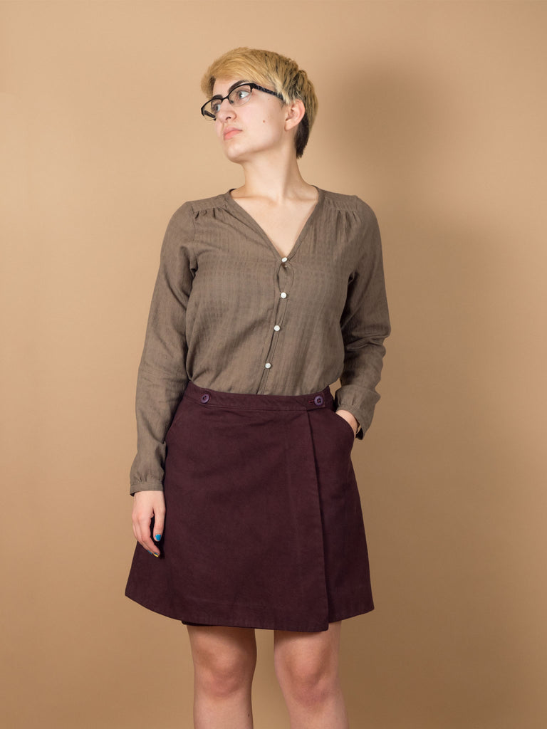 Ivy Skirt in Eggplant Denim