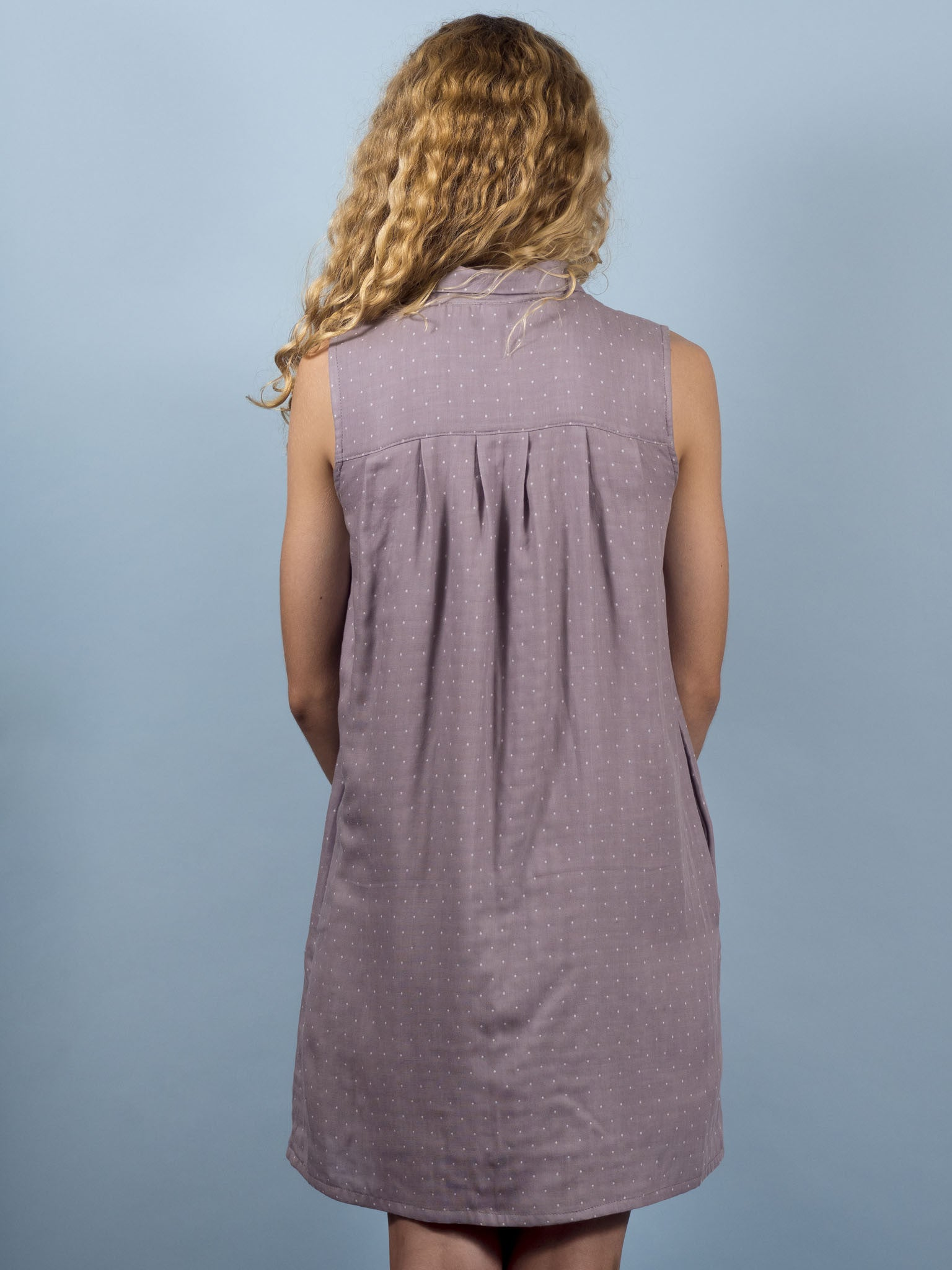 Juniper Dress in Mist Dot