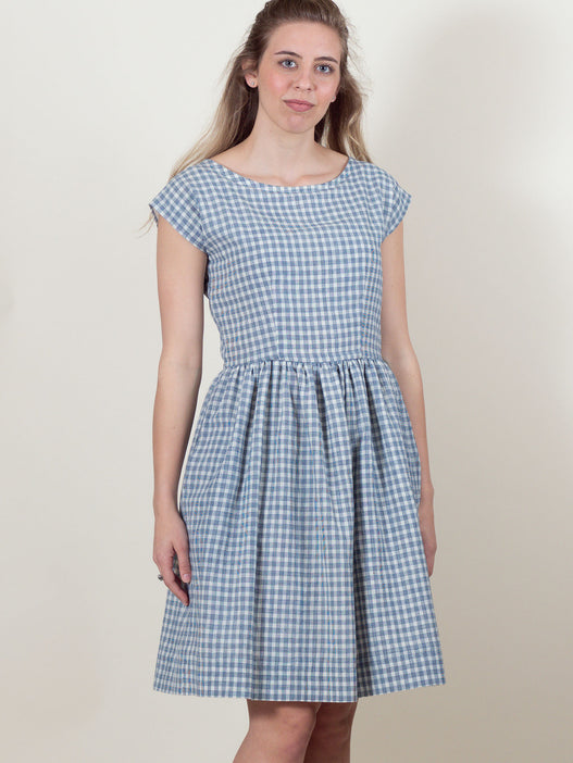Meadow Dress in Navy Check