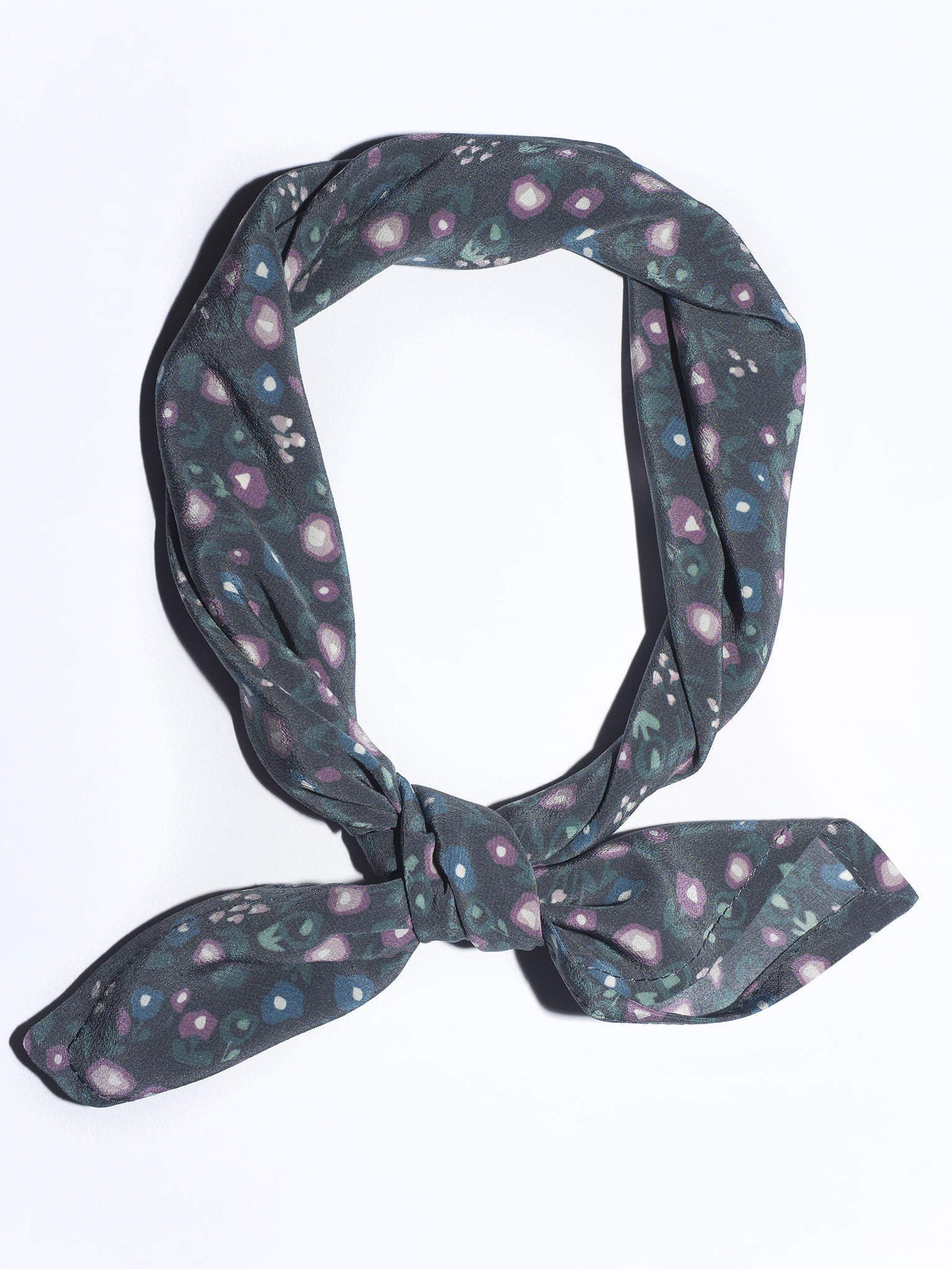 Square Scarf in Midnight Floral