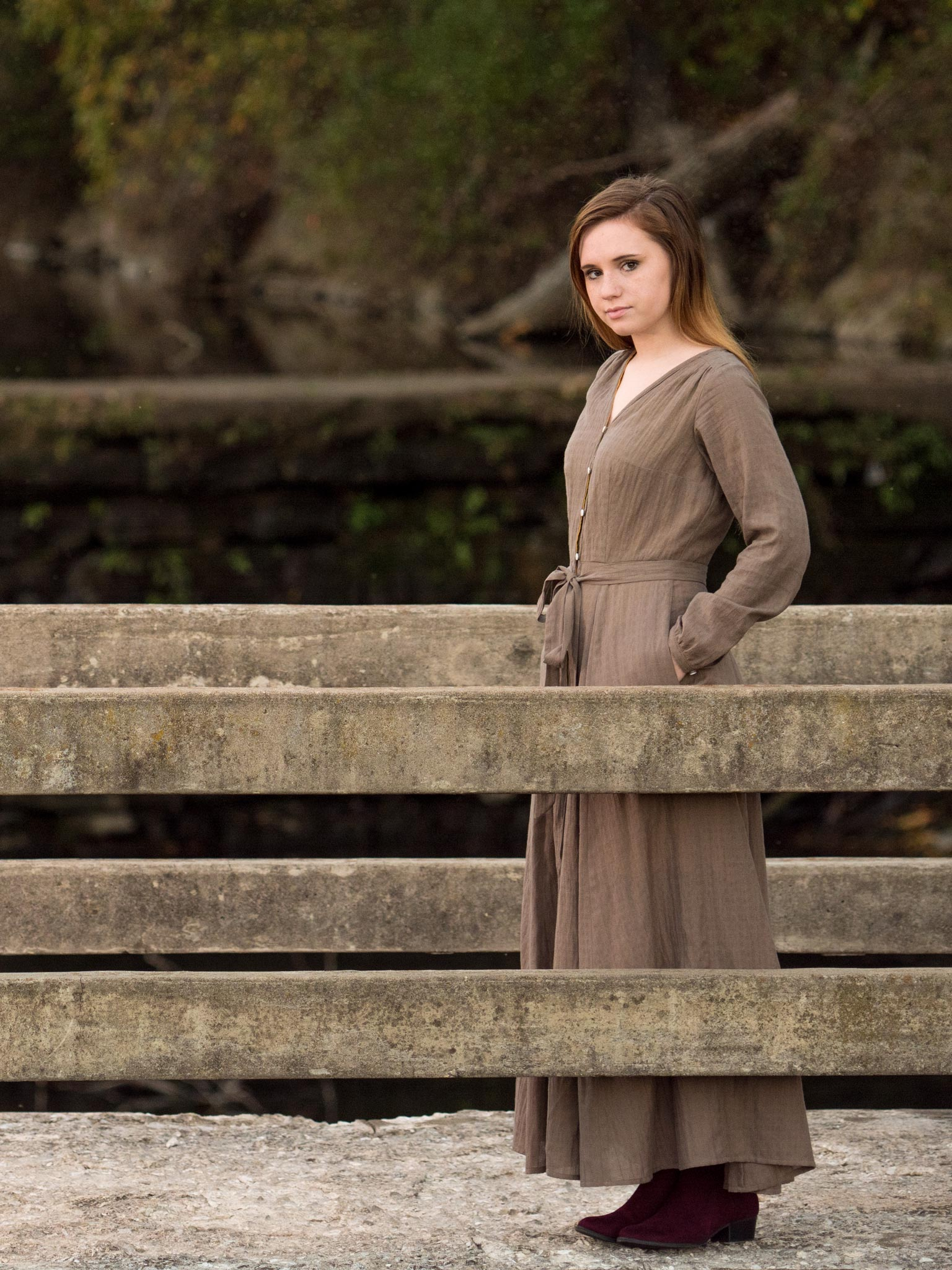 Leonor Dress in Mocha Khadi