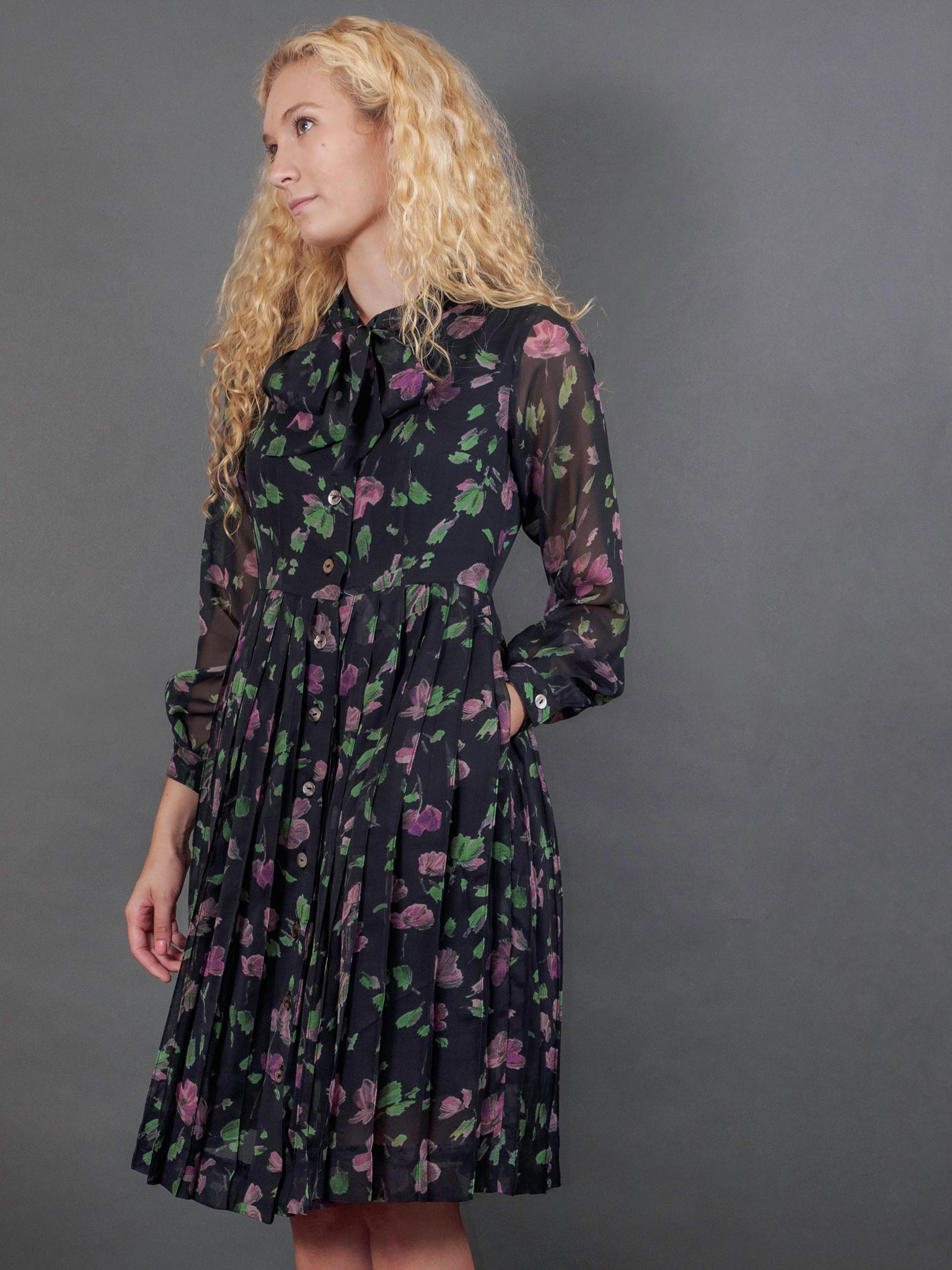 Nightingale Dress in Cassatt Georgette