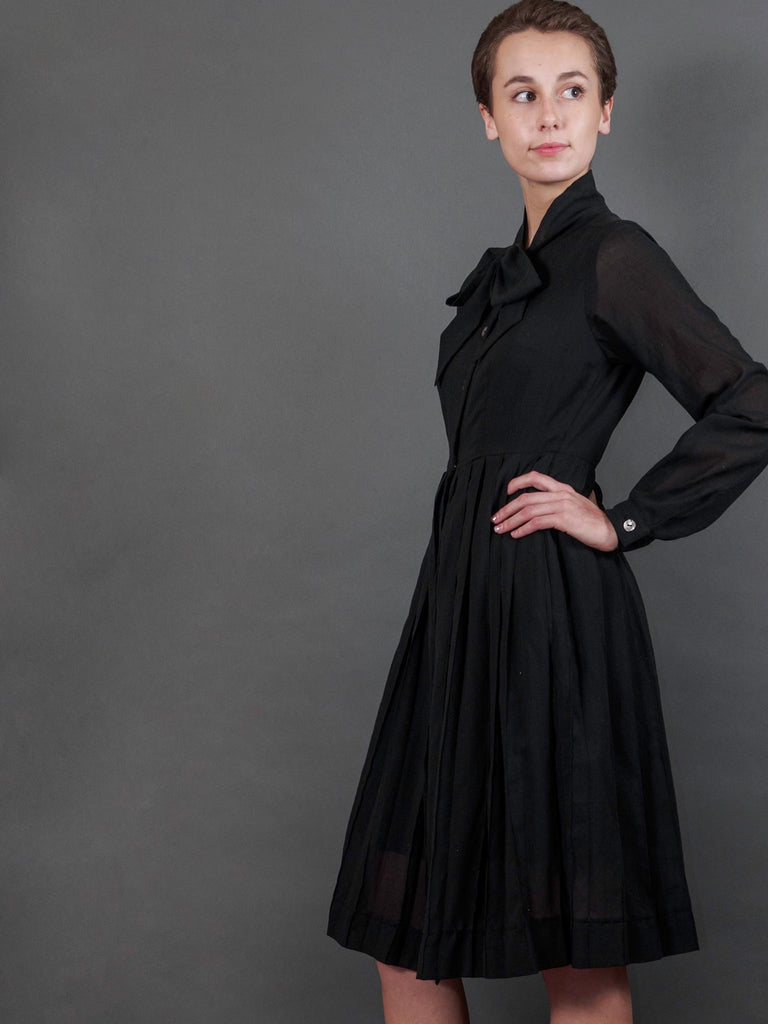 Nightingale Dress in Noir Chiffon