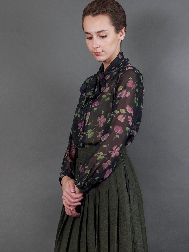 Philomela Top in Cassatt Georgette