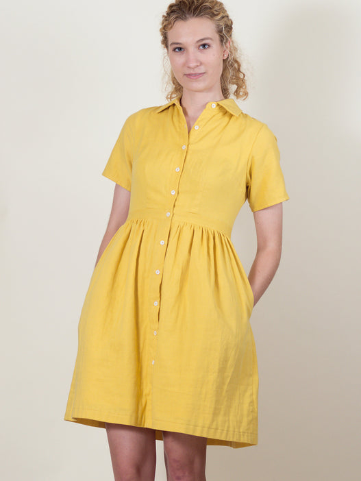 Picnic Dress in Buttercup Gauze