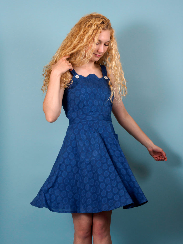 Piper Dress in Lazuli Dot