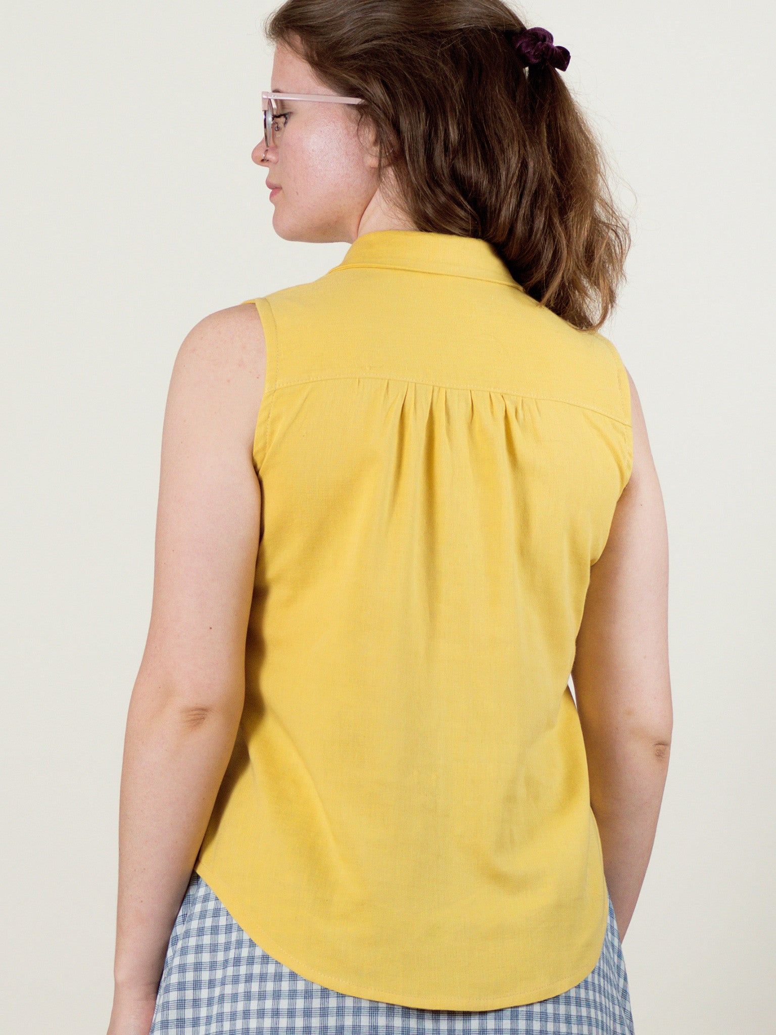 Poppy Top in Buttercup Gauze