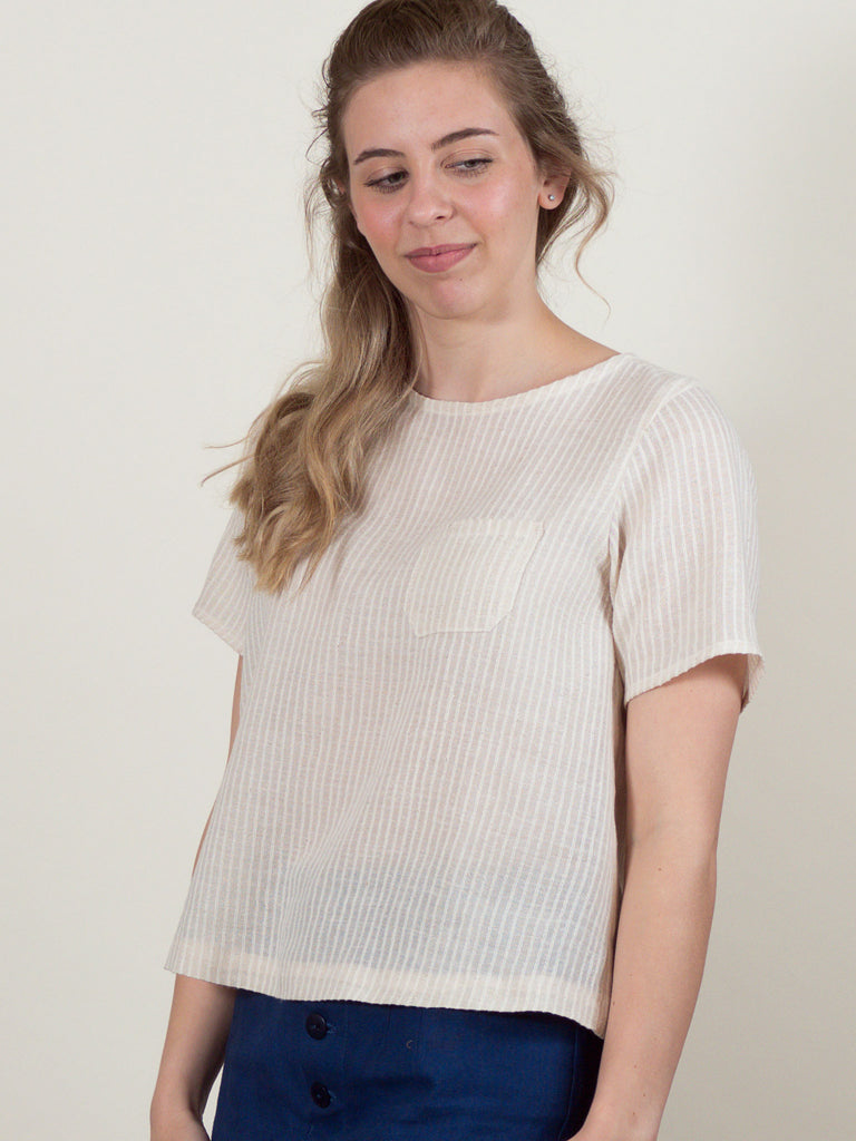 Regatta Top in Cream Stripe