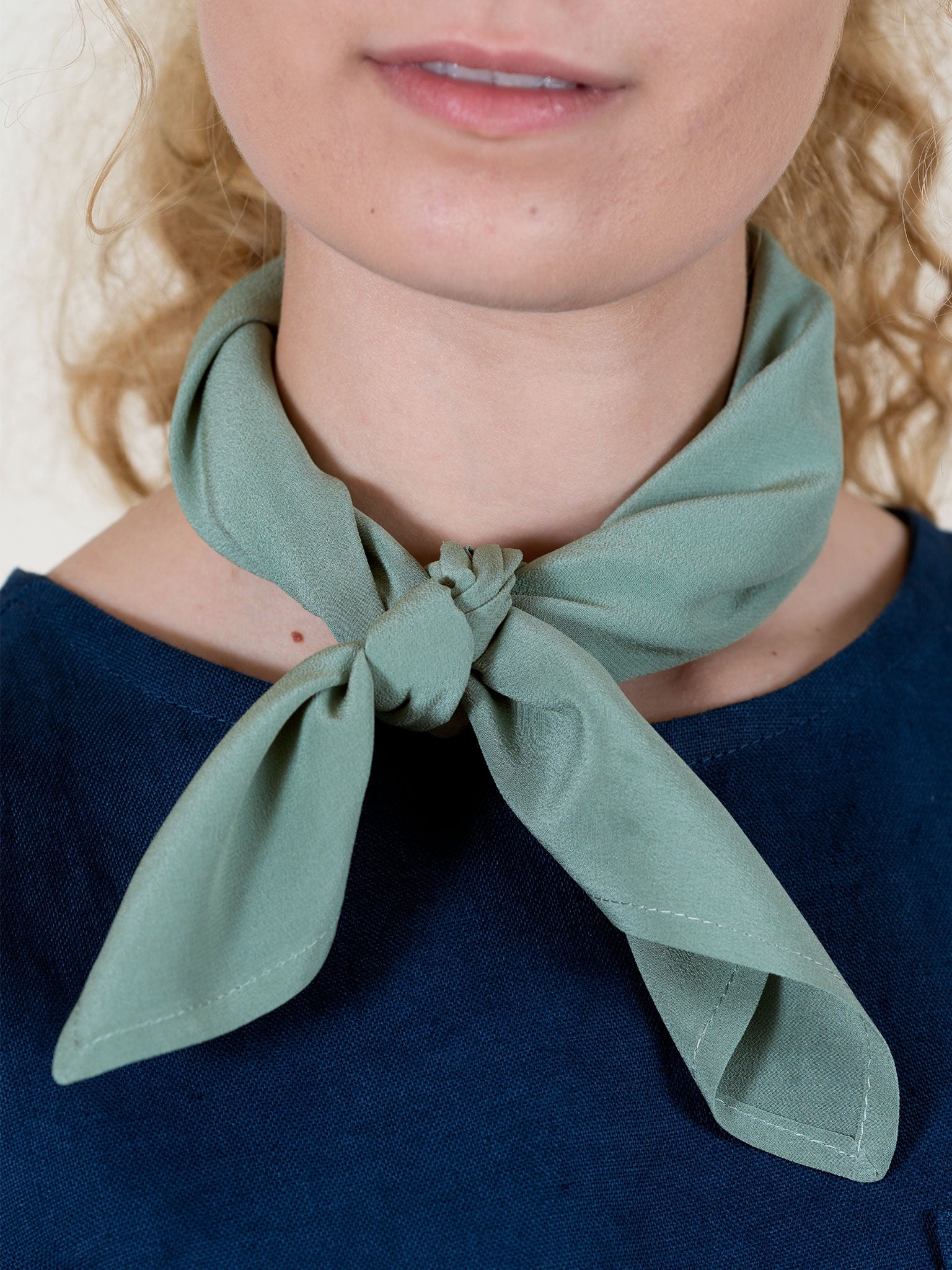 Square Scarf in Sage Silk