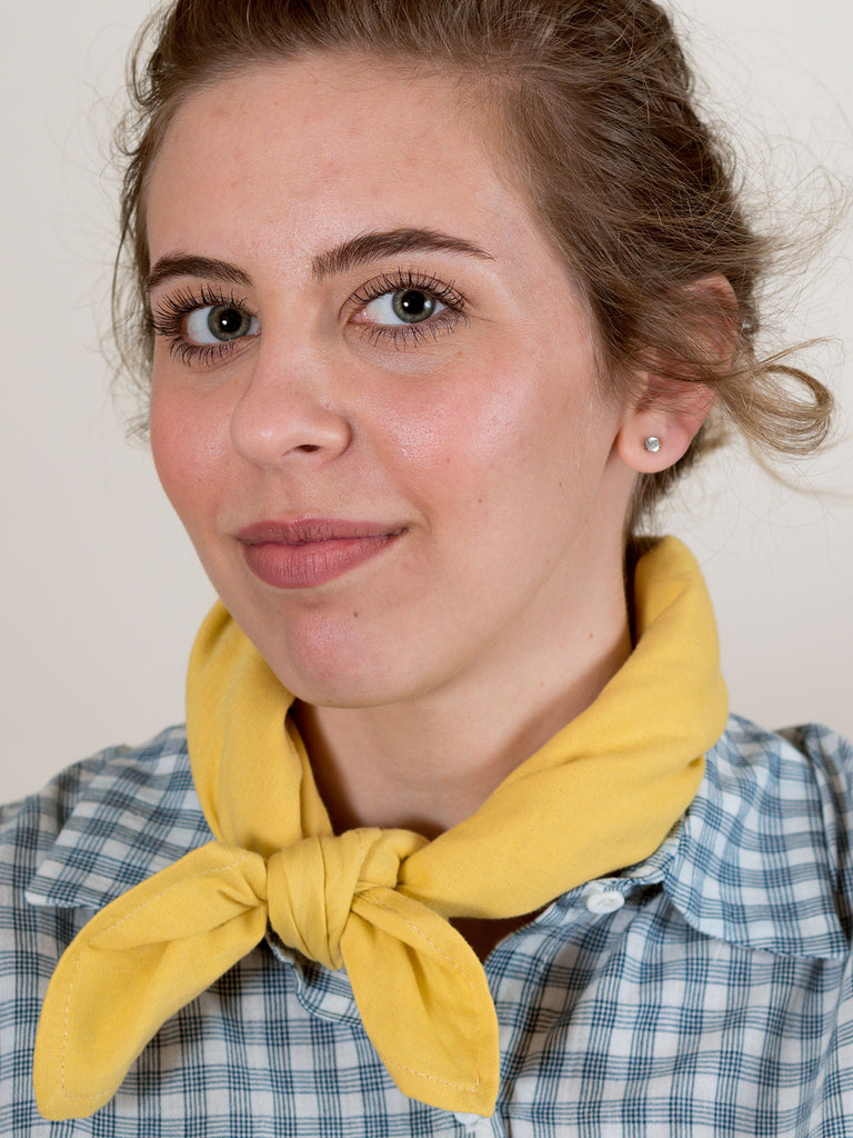 Square Scarf in Buttercup Gauze