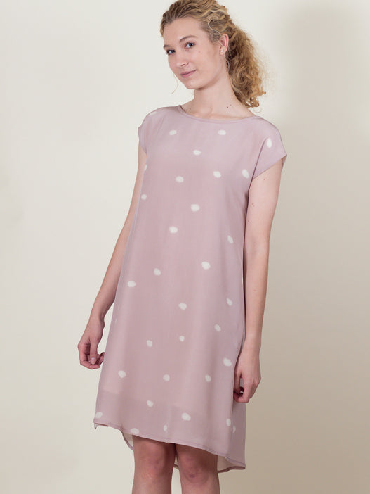Thea Dress in Pink Cloud