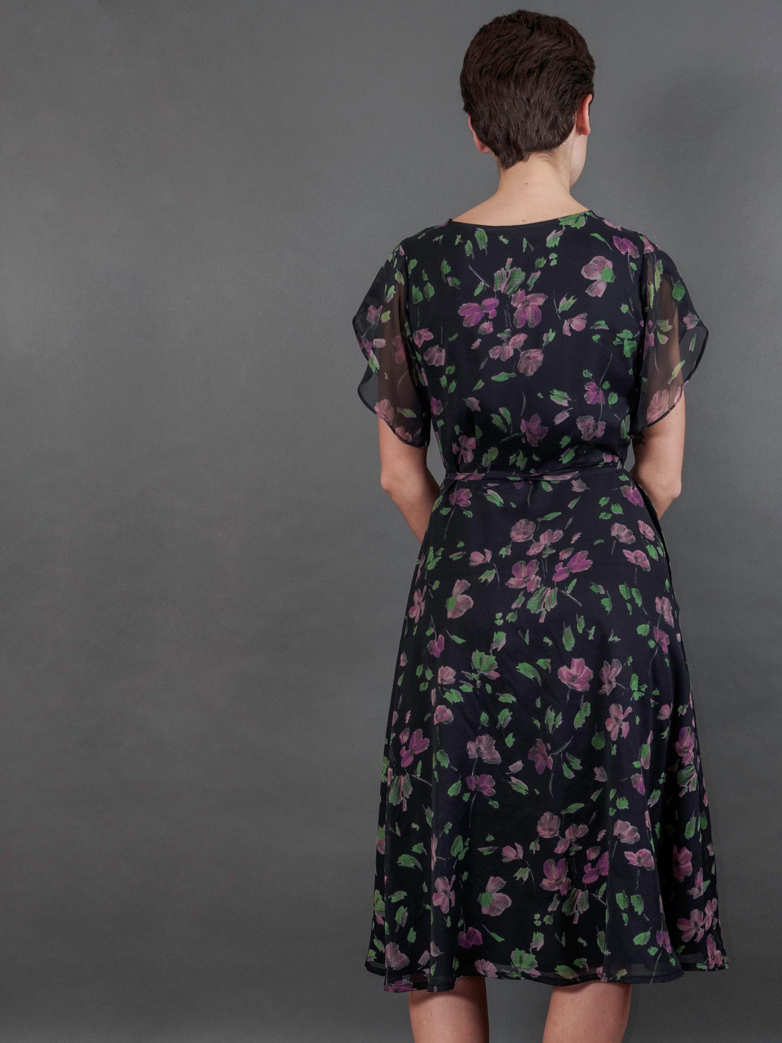Willow Dress in Cassatt Georgette