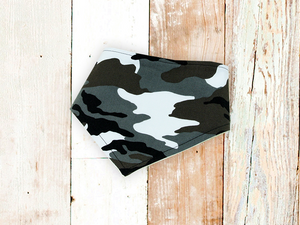 """Black Camouflage"" Dog Bandana"