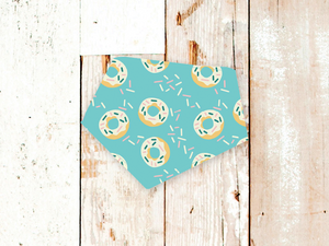"""Blue Donuts"" Dog Bandana"
