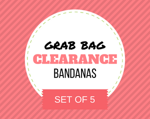 """Clearance GRAB BAG SET OF 5"" Dog Bandana Set"