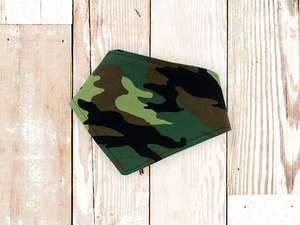 """Green Camouflage"" Dog Bandana"