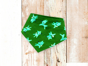 """Green Reindeer"" Dog Bandana"