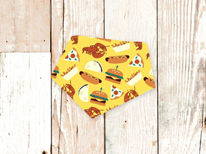 """Junk Food"" Dog Bandana"