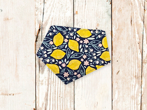 """Lemon Floral"" Dog Bandana"