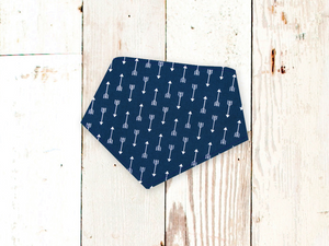 """Navy Arrows"" Dog Bandana"