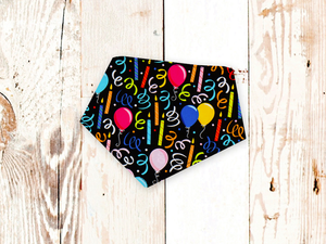 """Birthday Party on Black"" Dog Bandana"