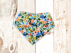 """Petite Garden Party in Blue"" Dog Bandana"