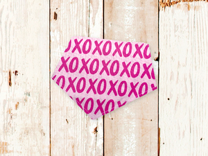 """Pink XOXO"" Dog Bandana"