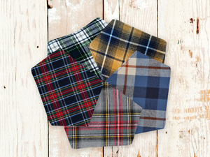 """The Plaid Collection"" Dog Bandana Set"