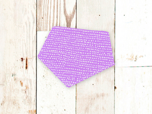 """Purple Dots"" Dog Bandana"