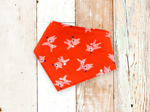 """Red Reindeer"" Dog Bandana"
