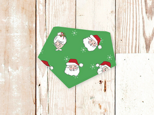 """Santa & Mrs. Claus"" Dog Bandana"