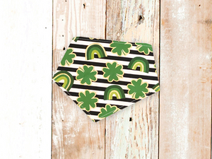"""Shamrock Stripes"" St. Patrick's Day Dog Bandana"