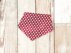 """Sketched Hearts"" Dog Bandana"