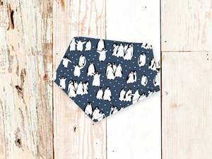 """Snowy Penguins"" Dog Bandana"