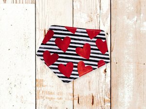 """Striped Hearts"" Dog Bandana"