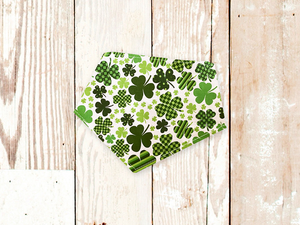 """White Shamrocks"" Dog Bandana"