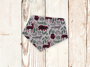 """Woodland Plaid"" Dog Bandana"