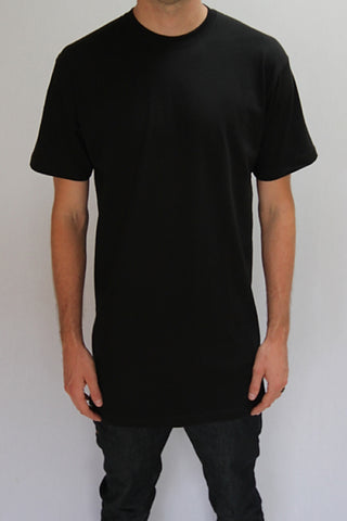 Black Tall Tee Wholesale 5 pack