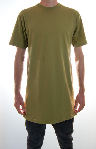 Olive Tall Tee Wholesale 5 pack