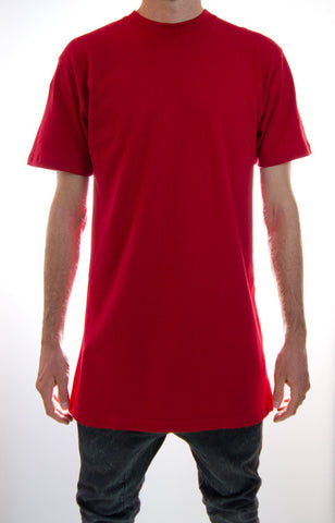Red Tall Tee Wholesale 5 pack