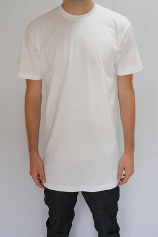 White Tall Tee Wholesale 5 pack