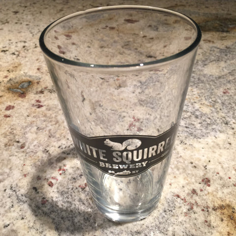 White Squirrel Pint Glass