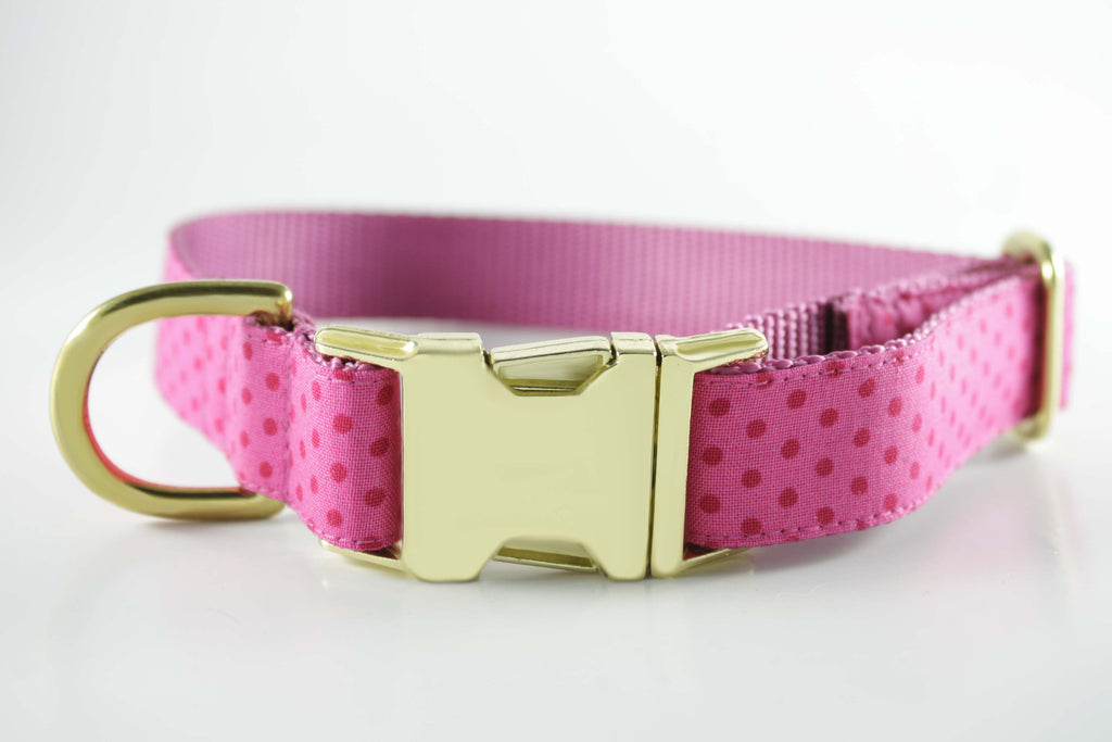 Pretty in Pink Polka Dot Collar