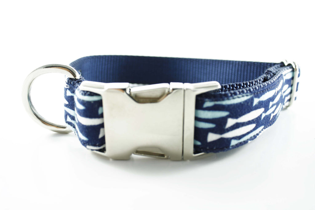 Blue Sea of Fishes Collar