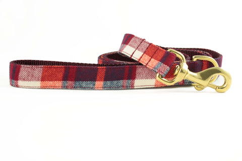 Cherry Red Plaid Leash
