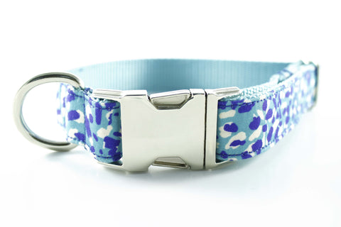 Electric Blue Cheetah Collar