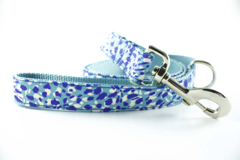 Electric Blue Cheetah Leash
